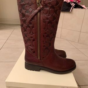 Brown Leather Coach Boots NWT size 9